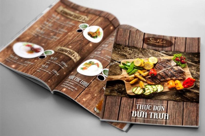 Thiết kế menu nhà hàng cuốn hút người xem