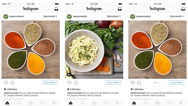 Facebook và instagram là nền tảng quảng cáo phù hợp cho lĩnh vực ẩm thực
